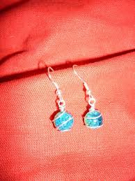 wire wrapped beads a pair of wire