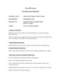 Office Clerk Job Description For Resume Office Clerk Resume Sample