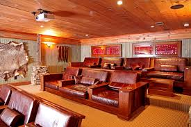 Lakeside Lodge Rustic Home Theater Other Metro By Appalachian Gorgeous Home Theater Design Houston