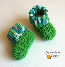 Crochet Baby Booties Pattern 3 6 Months Custom My Hobby Is Crochet Galaxy Baby Booties Free Crochet Pattern