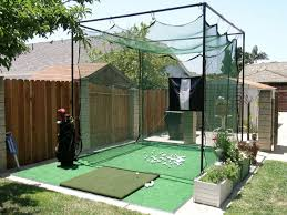 My hitting cage #golfnet | Backyard, Backyard putting green, Green backyard