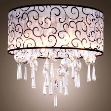 chandelier fabric shade chandelier light crystal classic