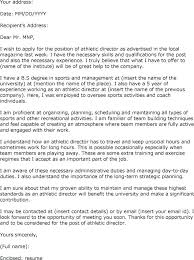 Athletic Director Resume Examples Inside Cover Letter For Athletic