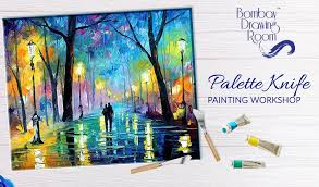 palette knife painting work by ay drawing room bandra