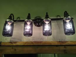 custom bathroom lighting. Lighting:Alluring Diy Mason Jar Vanity Light Blesser House Chandelier Home Depot Amp Rustic Pallet Custom Bathroom Lighting N