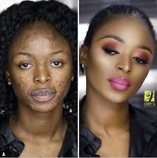surprising before and after makeup transformation