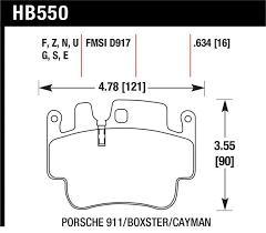Hawk Hb550u 634 Dtc 70 Brake Pads Fmsi Id D917