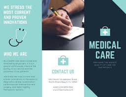 Patient Brochure Templates Shades Of Blue Medical Trifold Brochure Templates By Canva