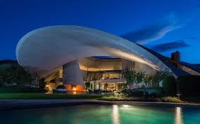 space home. bob hopeu0027s california mansion designed by john lautner at night space home