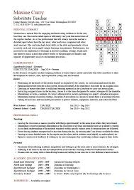 Substitute Teacher Resume Objective Examples Teaching Here Are For