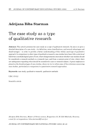 Pdf The Case Study As A Type Of Qualitative Research