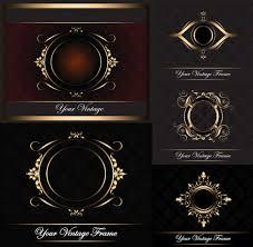 ornate gold frame vector