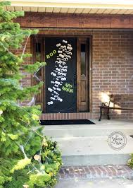 Our Halloween door looks great from the street and it will look great at  your house too!!