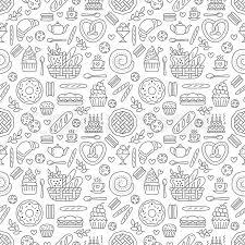 Bakery Seamless Pattern Food Vector Stock Vector Colourbox