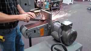 kalamazoo belt grinder. kalamazoo industries bg448 industrial belt grinder (platen grinding)
