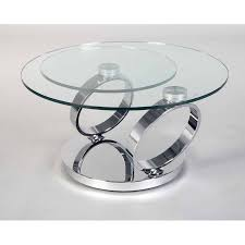 chrome and glass swivel coffee table ancona in designs 15