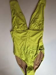 Nwt Jcrew 98 Plunge V Neck One Piece Swimsuit Size 4 Lemon