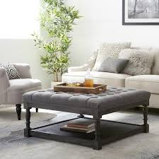 large square ottoman tufted coffee