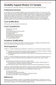 Resume Templates Community Support Worker Disability Support Worker
