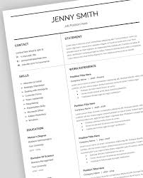 Resume Template Cv Google Docs Editossimpleresume Design