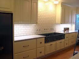 Cream Kitchen Tile Subway Tile Backsplash With Expresso Cabinets White Subway Tile