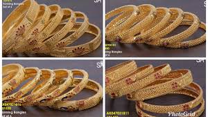Gold Bangles Design With Price In Pakistan Set Of 6 Gold Bangles Designs With Weight And Price