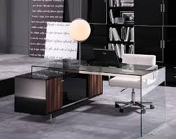 glamour modern office desk 02 desks with glass prepare 4