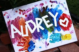 kids paint night name canvas painting