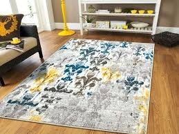 grey and yellow area rug rugs great kitchen rug wool area on grey and yellow gray