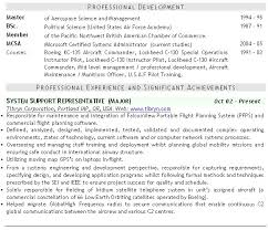 Military Resume Examples Resume Template Ideas