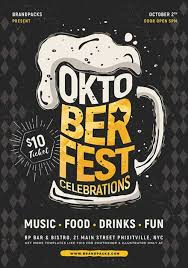 Flyer Poster Templates Oktoberfest Event Flyer And Poster Template For Photoshop