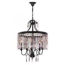enfield collection 5 light flemish brass and clear crystal chandelier 20 d x 25