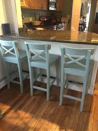 Small Picture IKEA counter stools painted with Annie Sloan chalk paint in Duck