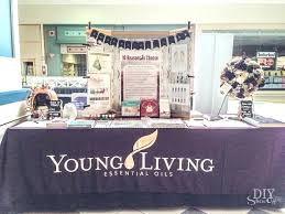 display table ideas how to set up at a young living booth at vendor event funeral display table ideas