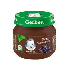 Купить <b>пюре фруктовое Gerber</b> Только чернослив с 4 мес. 80 г ...