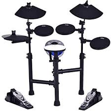COSTWAY Upgraded <b>Electronic Drum</b> Kit, <b>Portable</b> Drums Set with ...