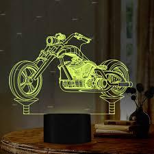 Design Led Gifts Car Addiction 3d Motorcycle Design Illusion Led Night Light
