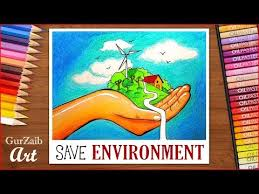 How To Draw Save Environment Poster Chart Drawing For