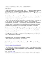 How To Title A Cover Letter Survey Cover Letter Example