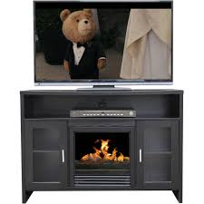 58 wood highboy fireplace tv stand for tvs up to 60 multiple finishes justdeals com