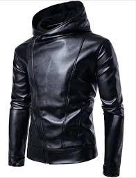 faux leather jacket with hood faux leather jacket men biker jacket leather jacket male motorcycle jacket faux leather jacket