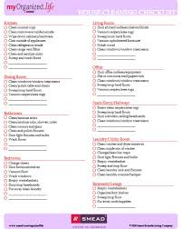 Cleaning House Checklist Printable Shop Fresh