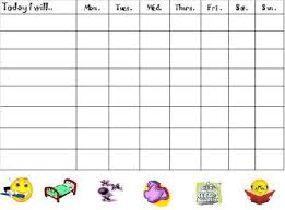 Free Chore Charts Chores List Behavior Chart