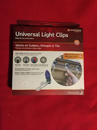 Simple Living Solutions Light Clips Simple Living Universal Light Hanger Clips Clear 100 Pk