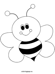 Small Picture Bee Coloring Page fablesfromthefriendscom