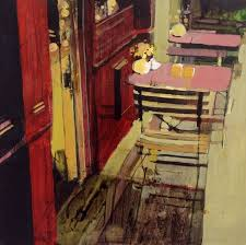 artfinder cafe tables near blvd st germain by julian sutherland beatson part of my new at home and abroad daily painting project comprising acrylic