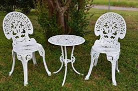 white garden furniture.  Furniture Angel White Garden Bistro Set  Table And Two Chairs For Yard 3 Pieces  Product On Furniture D