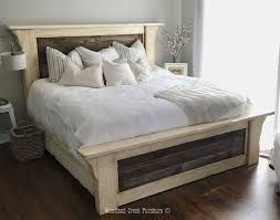 farmhouse bed frame. Delighful Farmhouse Whtie Farmhouse Bed Simple Rustic Frame With