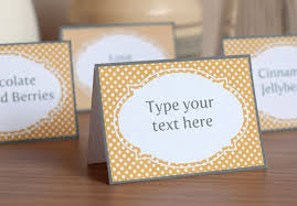 Table Labels Template Printable Yellow And Gray Candy Buffet Labels And Tent Cards