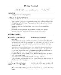Medical Assistant Objective Resume Best Of Resumes For Medical Assistant A Good Objective For A Medical